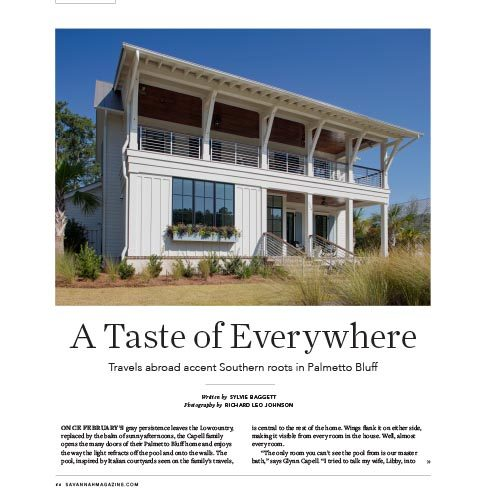 A Taste of Everywhere, Savannah Homes Magazine